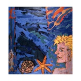 Woman and Starfish, 1989 Giclee Print by Peter Wilson