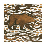 Fishing Bear, 2001 Giclee Print by Nat Morley