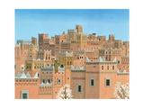 Village, Southern Morocco, 1998 Giclée-tryk af Larry Smart