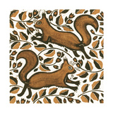 Beechnut Squirrels, 2002 Giclee Print by Nat Morley