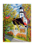 House with Church, Badeck Giclee Print by Patricia Eyre