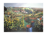 Allotments, St Wertburghs, Bristol Giclee Print by Anna Teasdale
