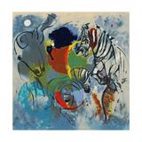 Zebras, 1988 Giclee Print by Jane Deakin