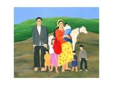 Gipsy Family, 1986 Giclee Print by Magdolna Ban