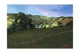 From Solsbury Hill Giclee Print by Anna Teasdale