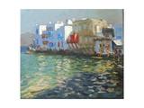 Little Venice, Mykonos Reproduction procédé giclée par Andrew Macara