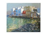 Little Venice, Mykonos Giclee Print by Andrew Macara