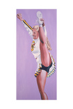 Oregon Ducks Cheerleader, 2002 Giclee Print by Joe Heaps Nelson