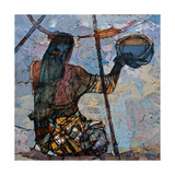 A Fishing Woman Giclee Print by Anna Kostenko