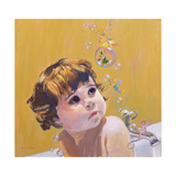 Bubble Bath Giclee Print by William Ireland