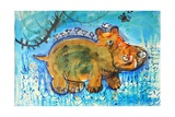 Hippopotamus Giclee Print by Brenda Brin Booker