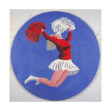 Cheerleader Tondo, 2001 Giclee Print by Joe Heaps Nelson