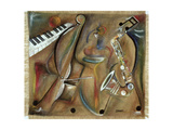 Burlap Sax Giclee Print by Ikahl Beckford