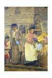 Flower Seller, London Giclee Print by Peter Miller