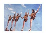 Florida State Cheerleaders, 2002 Giclee Print by Joe Heaps Nelson