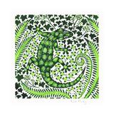 Green Gecko, 2002 Giclée-tryk af Nat Morley