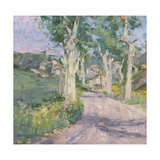 The Road to the Village, France Giclee Print by Diana Armfield