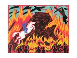 Brunnhilde's Immolation, Illustration from 'Gotterdammerung' Giclee Print by Phil Redford
