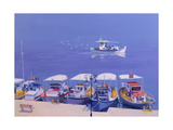 Greek Fishing Boats Giclee Print by William Ireland