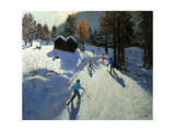 Two Mountain Huts, Pleney, Morzine Giclee Print by Andrew Macara