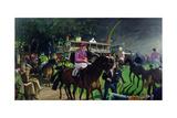 Ayr Races, C.2000 Giclee Print by Alexander Goudie