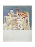 Clifftop Town, C.1930 Giclee Print by John Armstrong
