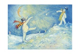 Snowmen's Midnight Fun, 2008 Giclee Print by David Cooke