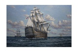 'Victory' Flagship of Vice Admiral Lord Nelson, 2010 Giclee Print by John Sutton