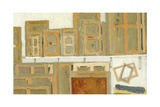 L'Atelier, Mur Est, Etude, 2004 Giclee Print by Delphine D. Garcia