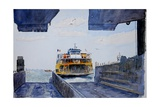 Staten Island Ferry Docking, 2010 Giclee Print by Anthony Butera