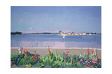 Ile Tudy from the Garden, C.1985 Giclee Print by Alexander Goudie