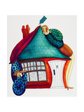 Checking New Home, 1992 Giclee Print by Julie Nicholls