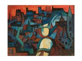 The City, the Danube at Budapest, 1963 Giclee Print by Emil Parrag