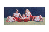 Junior High School Cheerleaders on the Grass, 2003 Giclee Print by Joe Heaps Nelson