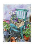 Gardener's Chair Giclee Print by Claire Spencer