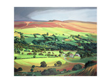 Welsh Valley Reproduction procédé giclée par Anna Teasdale