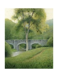 Tree and Bridge, Dartmoor, 2008 Giclee Print by Kevin Hughes