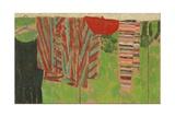 Dries Et Beret Rouge Sur Paravent, 2004 Giclee Print by Delphine D. Garcia