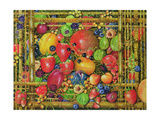 Fruit in Bamboo Box, 1999 Giclee Print by E.B. Watts