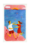 Couple Embracing on Beach, 2003 Giclee Print by Julie Nicholls
