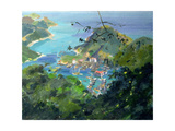 View of Aberdeen from the Peak, Hong Kong Giclee Print by Anne Durham