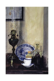 Lamp and Bottles Giclee Print by John Lidzey