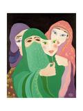 Masks, 1989 Giclee Print by Laila Shawa