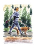 Walking the Dog, 2009 Giclee Print by Sara Hayward