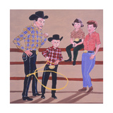 Cowboy Family, 2001 Giclee Print by Joe Heaps Nelson