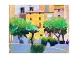 Roquebrun Facades Giclee Print by Simon Fletcher