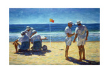 Judges at the Lifesaving Carnival, 1993 Giclee Print by Ted Blackall