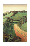 Chilcombe Bottom, Bath Giclee Print by Anna Teasdale