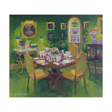 Dinner Party Giclee Print by William Ireland