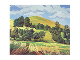 Little Hill, Cold Ashton Giclee Print by Anna Teasdale